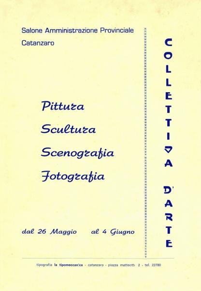 1973) Catalogo Pittura Scultura Fotografia Scenografia