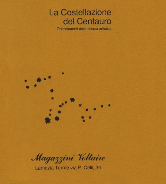 1987) Catalogo La costellazione del Centauro